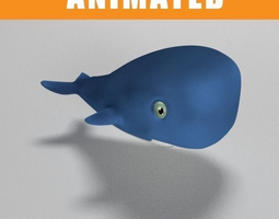 3d asset animated whale realtime