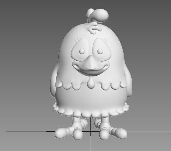 3D Printable Model Cartoon Chicken