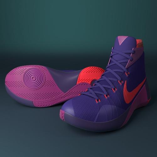 27896abb8fb8 3D model Nike Hyperdunk 2015