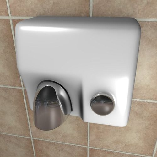 Hand dryer 3D model OBJ FBX BLEND