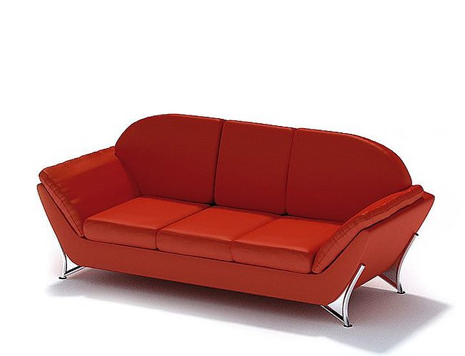 Modern Retro Contemporary Couch 3D CGTrader