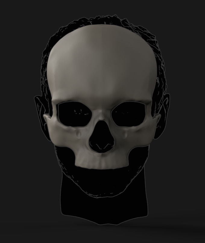 Skull mask 3D printable model | CGTrader