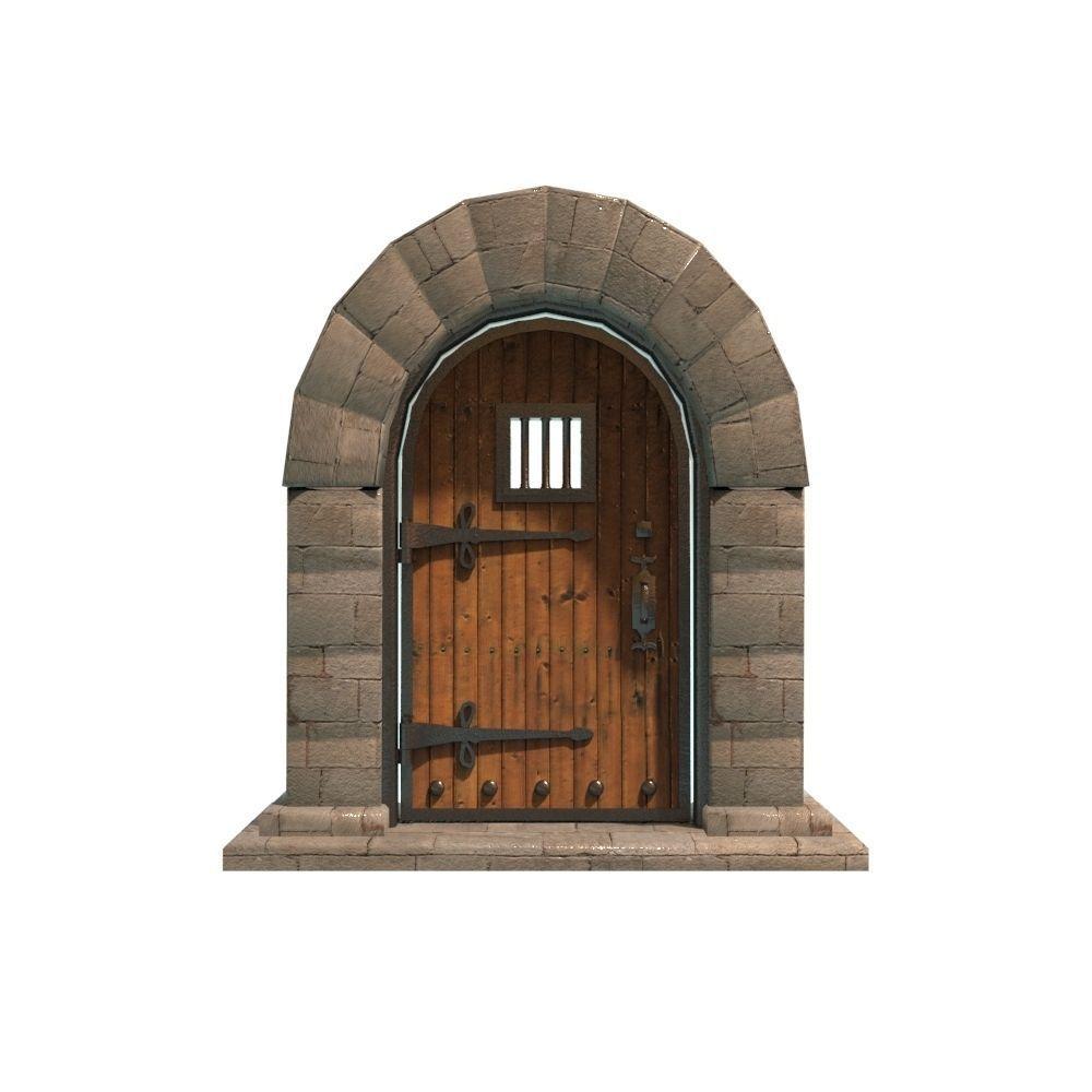 medieval door 3d model fbx ma mb 1 ...  sc 1 st  CGTrader & 3D model VR / AR ready medieval door   CGTrader