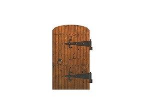 old wood door 3D asset