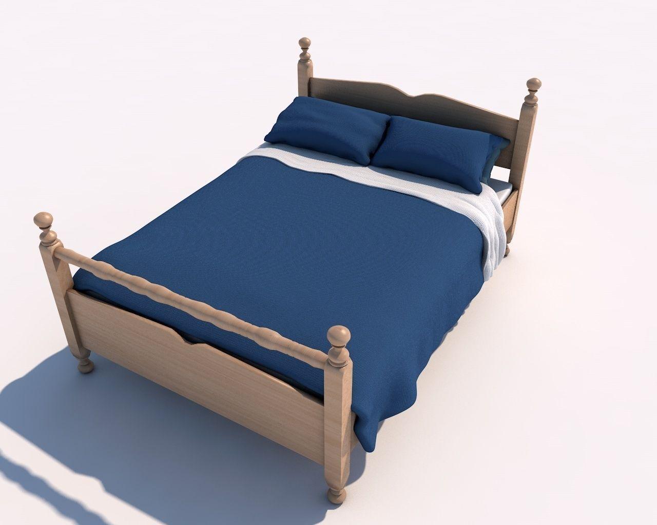 simple bed 3d model obj fbx c4d dae mtl 1. Simple Bed blankets 3D model   CGTrader