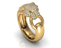 panthere ring 3d model 3dm