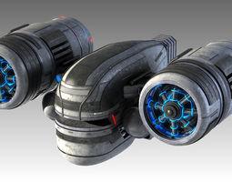 scifi spaceship 3d