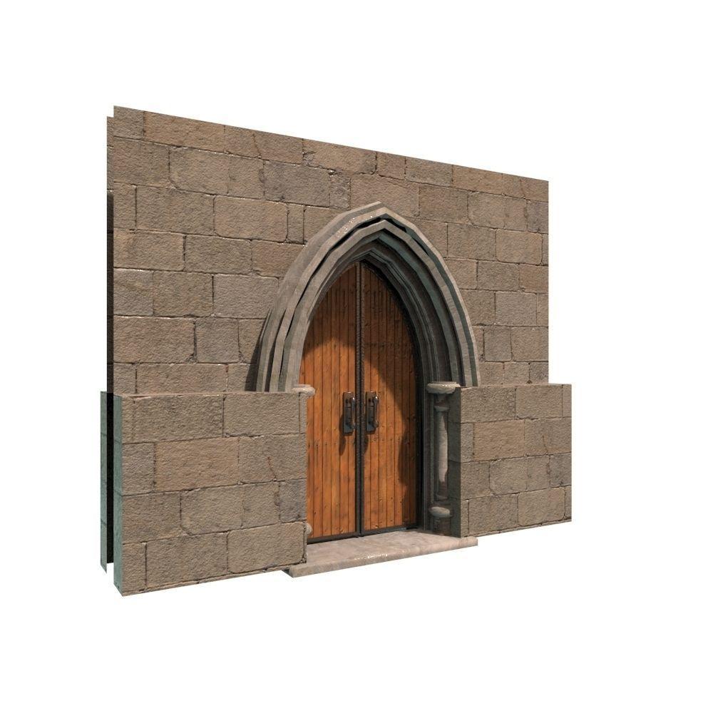 ... medieval door 01 3d model fbx ma mb 2 ...  sc 1 st  CGTrader & medieval door 01 3D model low-poly   CGTrader
