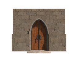 medieval door 01 3d model game-ready