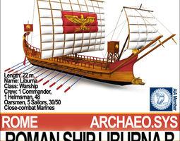 3d roman ship liburna b