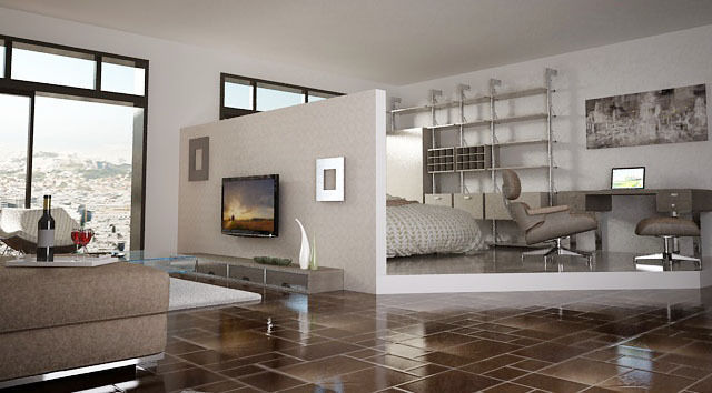 3D printable model living room and bedroom | CGTrader