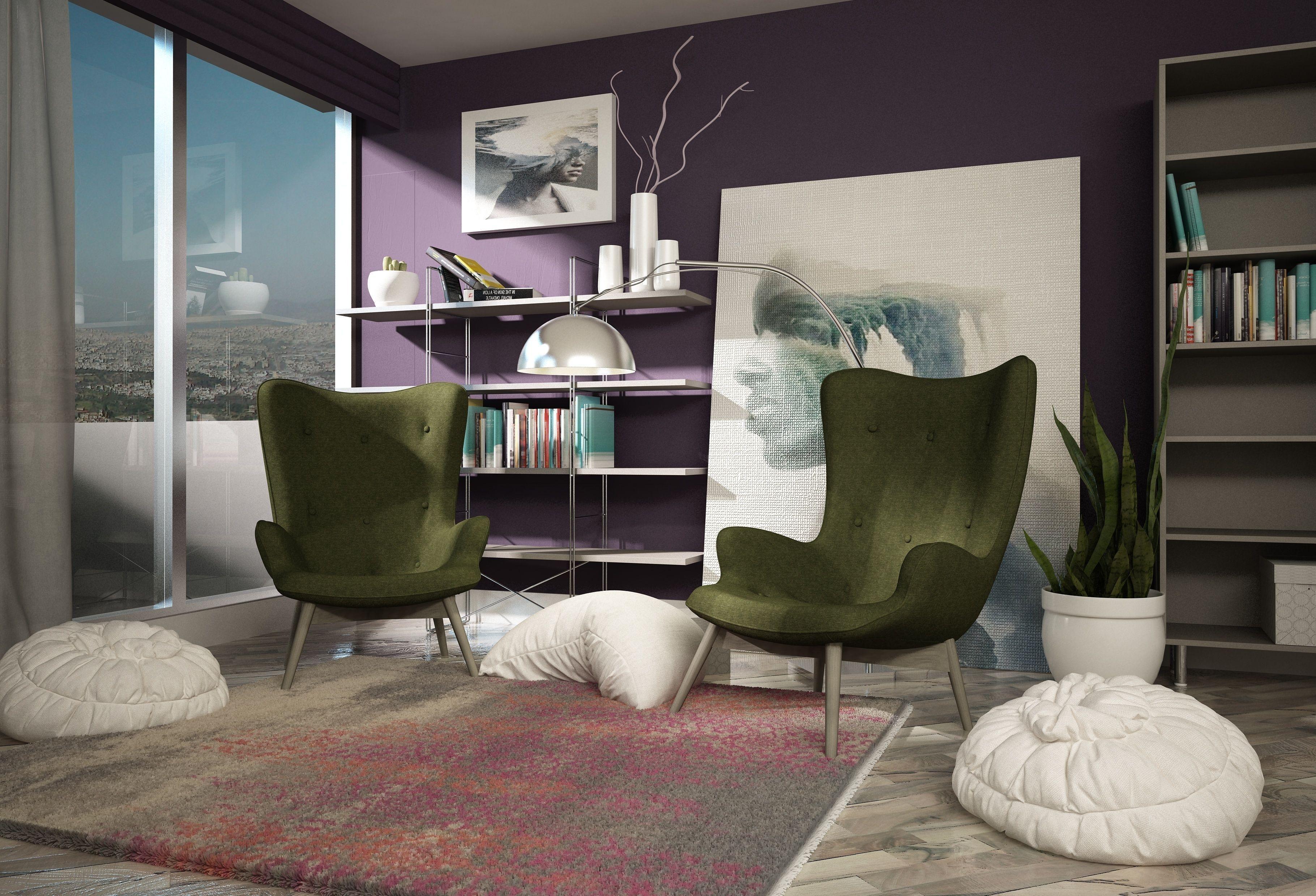 Living room 3d model 3d printable max cgtrader for Living room 3d model
