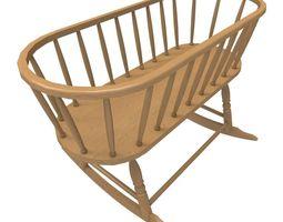 Windsor Cradle 3D model game-ready