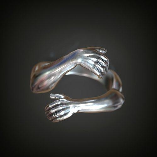 Ring hands hugging  finger