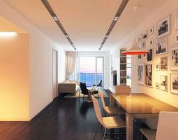 3D HB Living Room Apartment