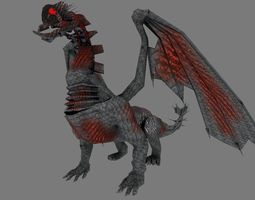 dragon low poly  3d model low-poly obj 3ds fbx lwo lw lws blend X