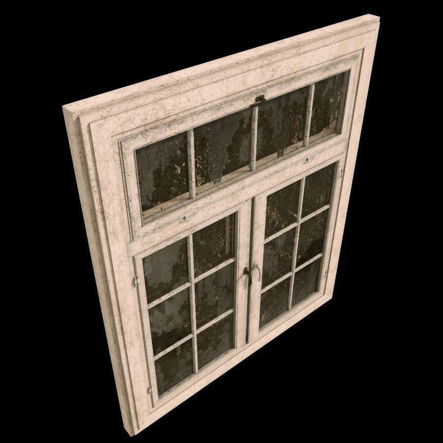 Old dirty window 3d model max obj 3ds fbx c4d lwo lw lws for Window 3d model