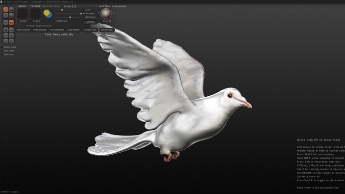 white dove 3d model obj mtl 1