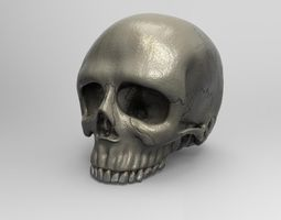Ultra realistic human skull 3D printable model