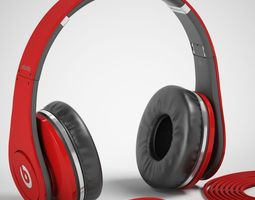 monster beats studio headphones with headset 3d model max obj mat
