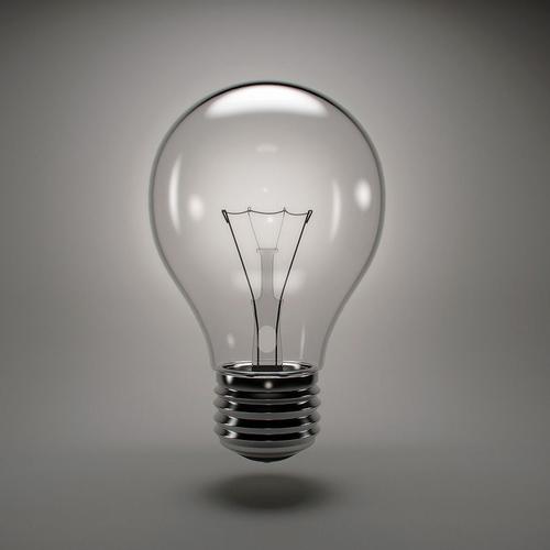 Fluorescent Light Gas: Incandescent Light Bulb 3D Model