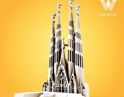 3d print model sagrada familia nativity