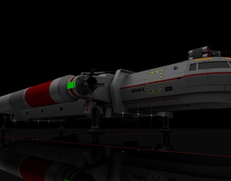 3D model Heavy Interplanetary Escort Shuttle