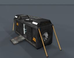 low-poly 3d asset sci fi objects series - 002