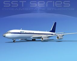 3D model Boeing 707-320 SS Olympic