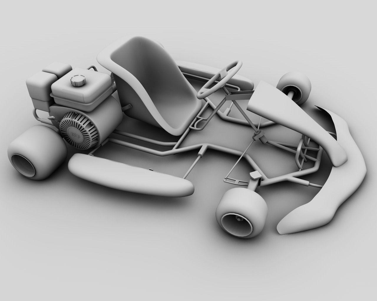 kart 3d 3D Racing Go Kart GoKart   CGTrader