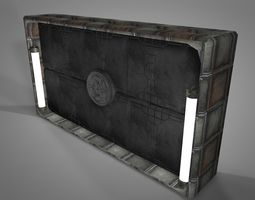 sci fi objects series - 003 - sci fi gate 3d asset realtime