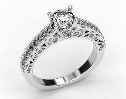3D print model Beautiful engagement ring