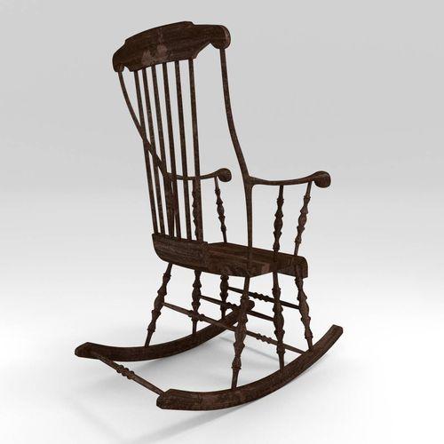 classic rocking chair 3d model obj fbx blend cgtrader