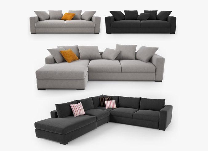 Boconcept Cenova Sofa Set 3d Cgtrader