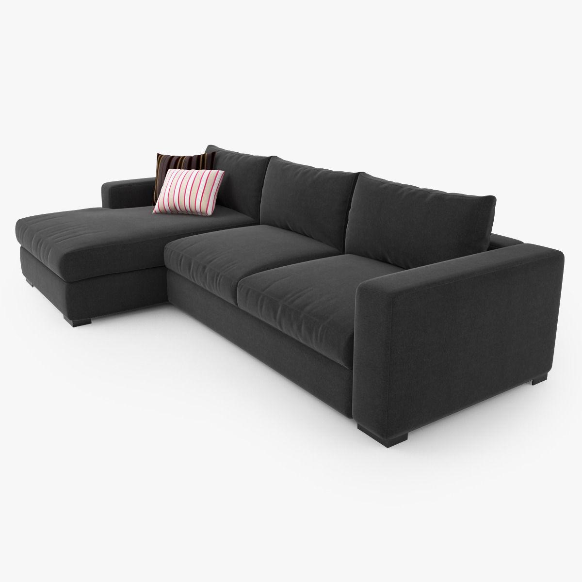 boconcept cenova sofa set 3d model max obj fbx. Black Bedroom Furniture Sets. Home Design Ideas