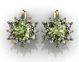 Snowflake Earrings Diamond 3D print model