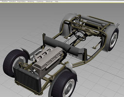 chassis car 50-60s 3d model max