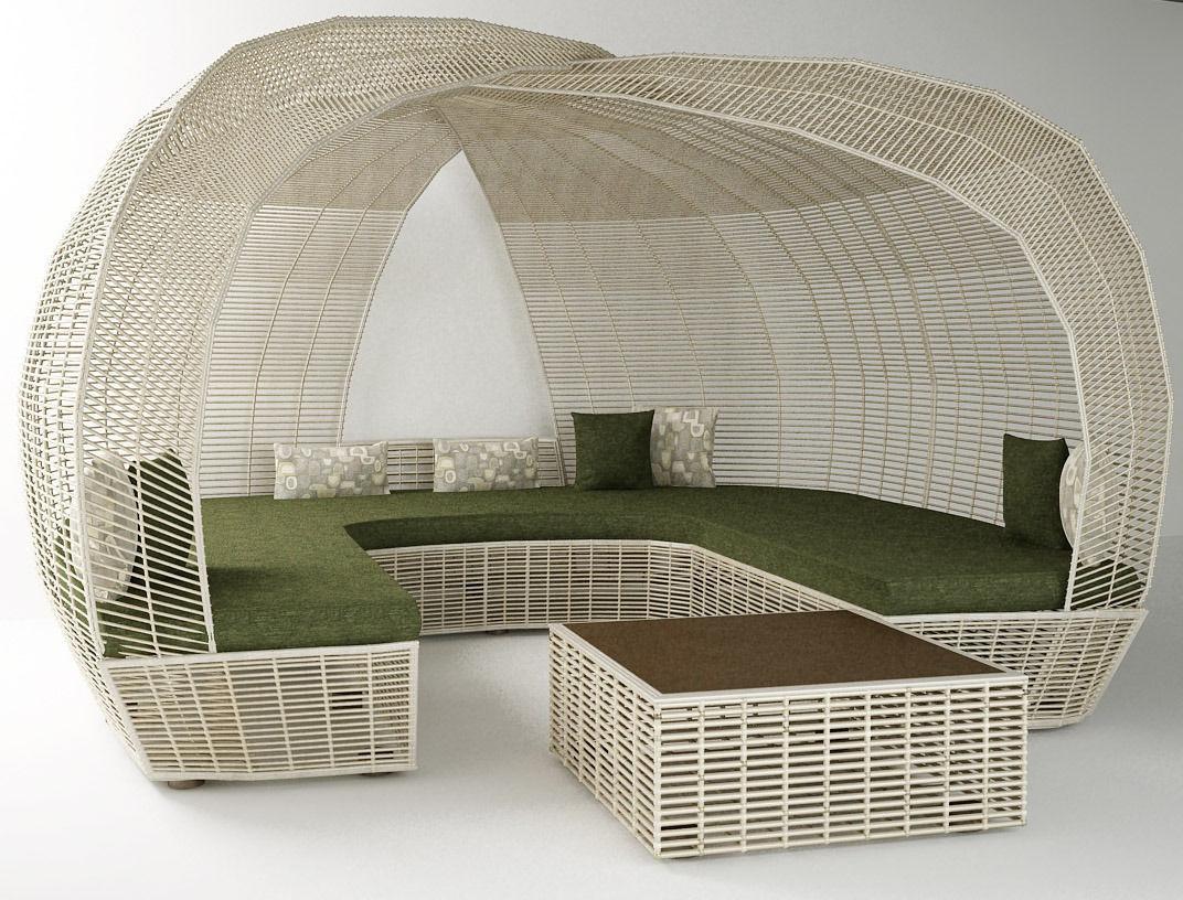 garden furniture 3d model max fbx 1 - Garden Furniture 3d Model