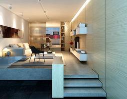 Living room rooms 3D model