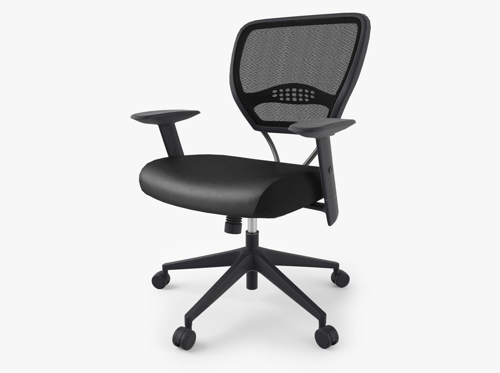 Etonnant Office Star Space Air Grid Chair 3d Model Max Obj Mtl Fbx 1 ...