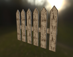 3D asset fence high quality verylowpoly