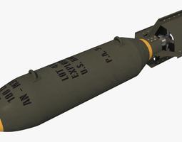 3D model WWII 100lb Bomb - AN-M30 GP100