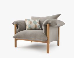 Jardan Wilfred Chair 3D