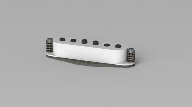 stratocaster pickup 3d model ige igs iges 1