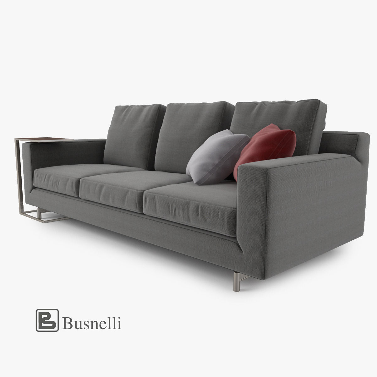Busnelli taylor sofa 3 seat 3d model max obj fbx mtl for Sofa 3d model
