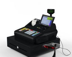 sam4s samsung sps-530 cash register  with barcode reader 3d model