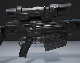 3D asset Sniper Rifle KSR-29