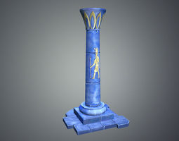 Low Poly Egypt Pillar 3D Model