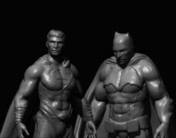 Batman Vs Superman Sculptures 3D print model