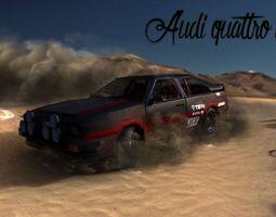 3D model Audi Quattro 80s rally car